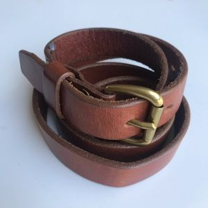J Crew Brown Leather Belt XL